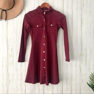 ASOS | Burgundy Mod Dress